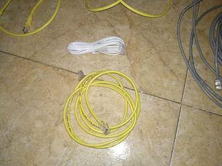 lote cables de red y telefono