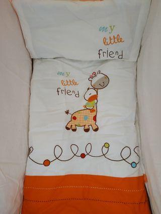 Lote bebé. Minicuna+ sábanas+ parque+ trona