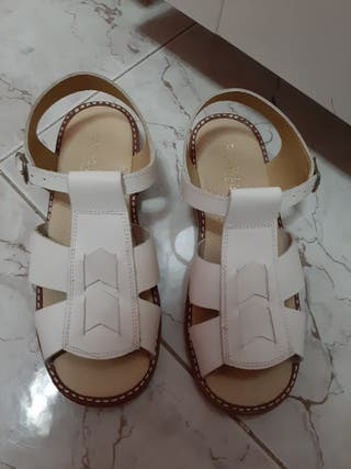 sandalias blanca niño/niña