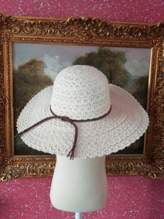 Pamela NUEVA sombrero nuevo encaje blanco