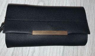 Mini leather clutch wallet bag
