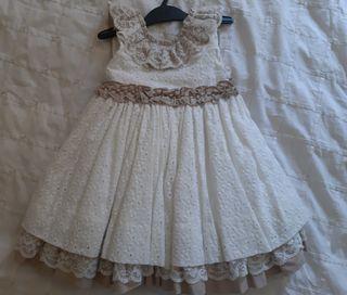 vestido boda niña 3 años con encaje