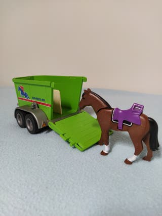 Remolque transporte caballo Playmobil