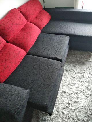 sofá chaise longue. 2 plazas más chaise longue
