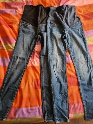 Pantalones tejanos premamá T.38