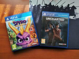 Spyro Trilogy & Uncharted - Legado PS4