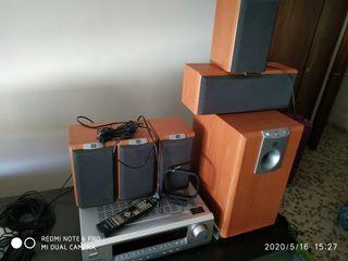 home cinema jbl amplificador onkyo