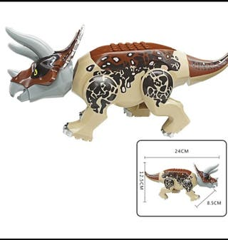 lego compatible dinosaurios triceratops