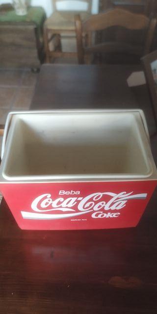 Nevera vintage de playa Coca-Cola