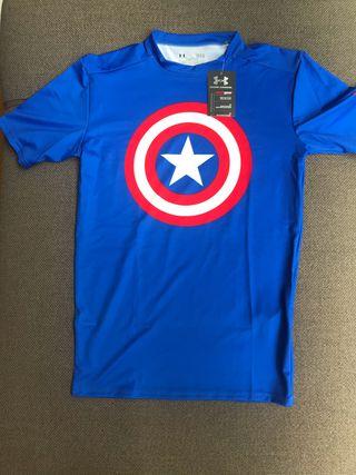 Camiseta deporte Under Armour, Capitán América, LG