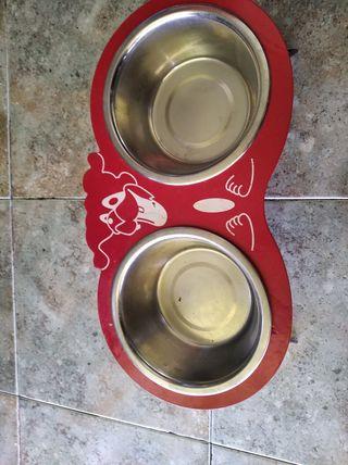 comedero y bebedero para perro