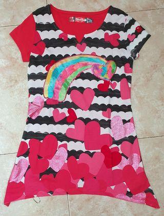 Camiseta larga Desigual niña 9/10 años