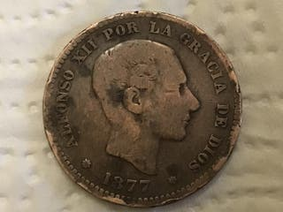 MONEDA ESPAÑOLA 5 Céntimos. AÑO 1877