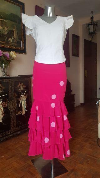 Falda flamenca,gitana ,rocio