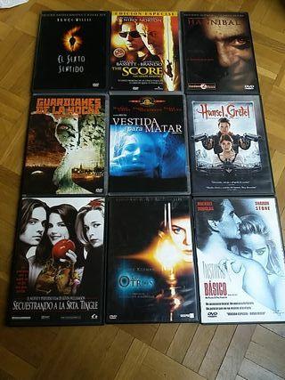 DVD películas terror/miedo/suspense I