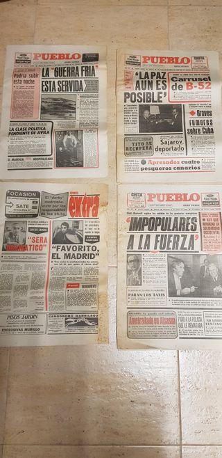Periódicos antiguos 1979-80 As, Ya, ABC, Pueblo...