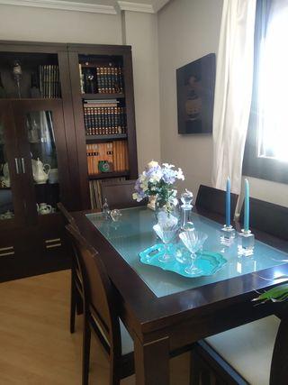 Mesas de salón extensible con 6 sillas