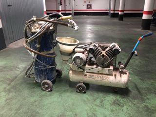 Máquina gotelé y liso