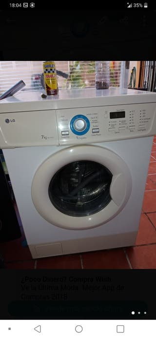 lavadora buena marca LG 7 kilos