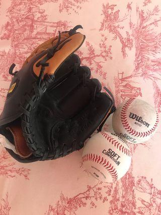Guante y Pelotas de béisbol