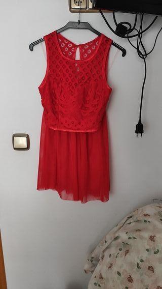 Conjunto top y falda fiesta rojo vestido