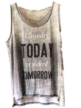 Camiseta tirantes gris larga