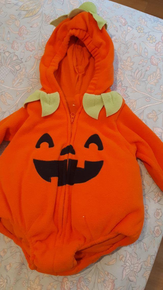 Disfraz calabaza Halloween bebé. Talla 62 cm.
