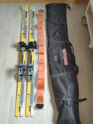 Esquís Ski Trab Piuma fijación pieles funda