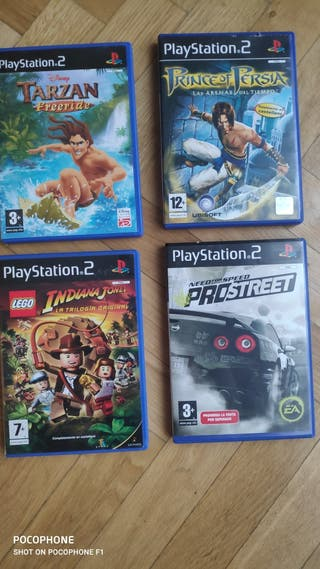 Lego Indiana Jones, Tarzan, Prince Persia, NFS PS2