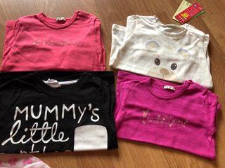 Lote camisetas benetton niña 9/12 meses