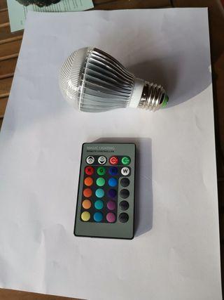 Bombilla LED Multicolor RGB + Mando a distancia