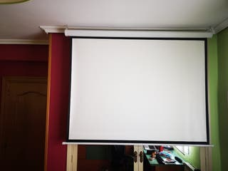 mini proyector+pantalla 150x110