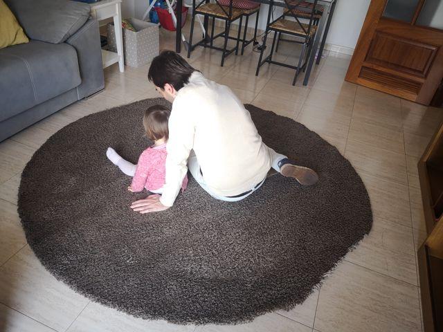 Alfombra redonda Ikea marrón