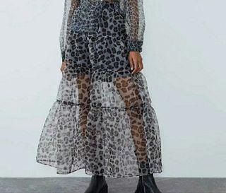 Falda estampada organza/ M