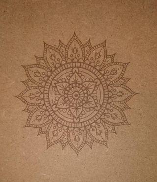 Mandala grabado laser