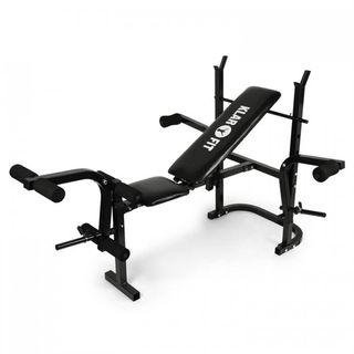 Fantastico banco de pesas en color negro Workot He