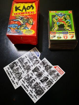Colección completa 50 Cromos Bolly Kaos the game