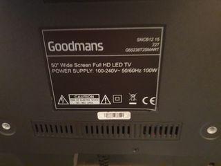 50 inch Goodmans TV (cracked screen