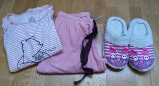 Lote pijama women secret + zapatillas casa
