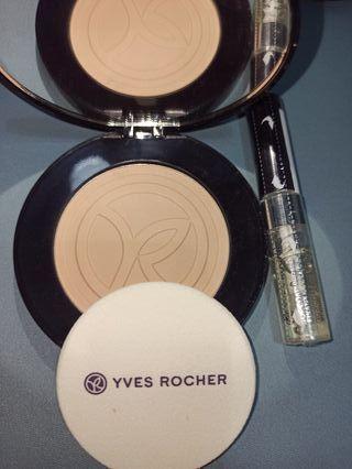 Polvos faciales maquillaje marca Yves Rocher