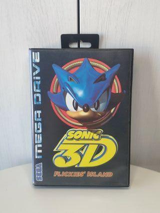 juego Sonic 3d de sega mega Drive completo