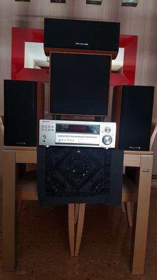 Amplificador Pioneer + altavoces Wharfedale
