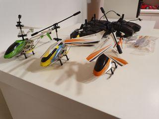 Helicópteros teledirigidos. Tres