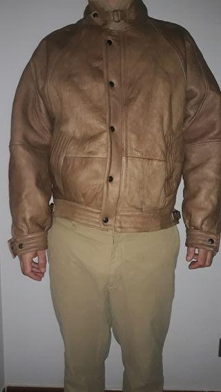 Cazadora de piel borrego piloto bomber shearling