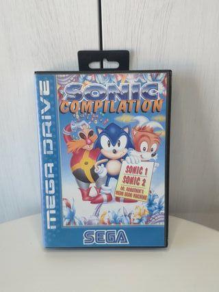 juego Sonic compilation de sega mega Drive complet