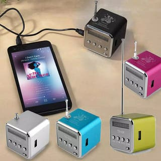 Mini altavoz portátil USB, microSD y radio