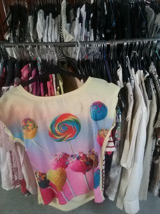 Camisetas, camisas, etc. 5 x 3,00 € / 10 x 5,00 €.
