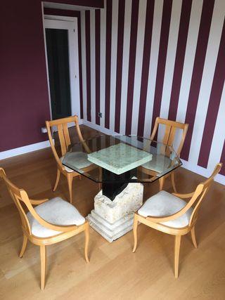 Conjunto mesas y sillas comedor/salón