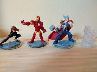 Disney Infinity Los Vengadores. Mundo y 3 figuras.