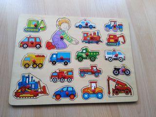 Puzzles de madera vehiculos